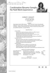 ideas of resume work experience sample with additional letter