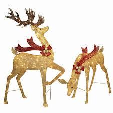 lighted reindeer twinkling mesh deer lighted sculpture set bj s wholesale club