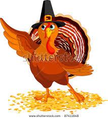 happy thanksgiving turkey stock illustration 162008300