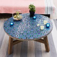 round stone top coffee table great outdoor side table mosaic outdoor round stone top coffee