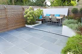 Family Garden - slate tiles