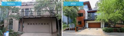 before and after from salmon colored stucco home to stunning