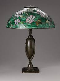 a favrile glass and bronze apple blossom table lamp studios new york