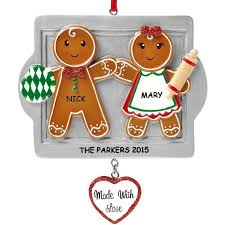 personalized made with gingerbread cookie family