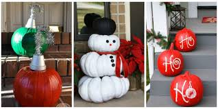 decorations for christmas ways to use pumpkins for christmas christmas pumpkin decorations