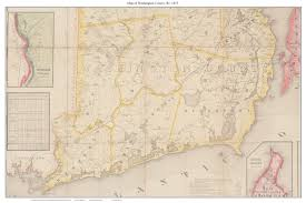 Washington State County Map by Old Maps Of Rhode Island National Archives