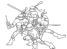 ninja turtle free coloring pages on art coloring pages