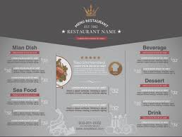 restaurant menu price list template vector free vector in