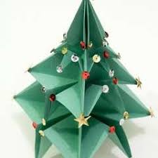 origami christmas tree an origami tree papercraft on cut out