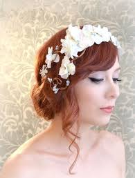 white flower headband 100 best floral hair crown inspiration images on