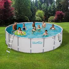 Deep Backyard Pool by Summer Waves Elite 15 Ft Round 48 In Deep Metal Frame Swimming