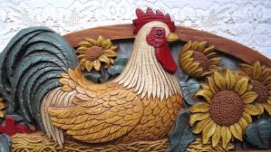 Rooster Kitchen Canisters Kitchen Room Country Rooster Kitchen Decor With Regard To