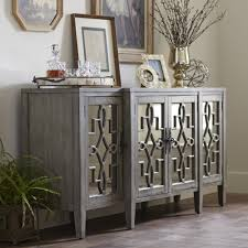 Antique White Sideboard Buffet by Birch Lane Hurley Mirrored Credenza This Mirrored Four Door