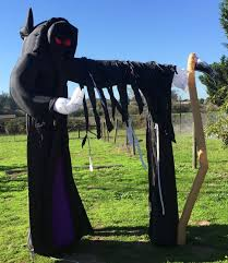 Halloween Air Blown Inflatables by Gemmy Airblown Inflatable Grim Reaper 9 U0027 Arch Halloween Yard