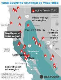 california map napa napa sonoma wineries hit by california wildfires