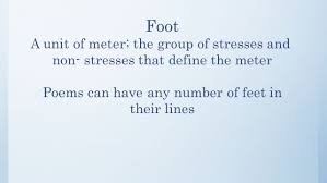 Feet In A Meter Poetry Ppt Video Online Download