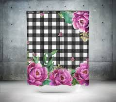 pink sunrise in gingham shower curtain shopcabin