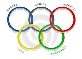 olympic rings color images Which flag contains five interlocking rings representing five