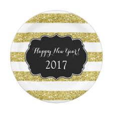 new year plates black and white striped gold plates zazzle