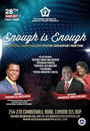 the yoruba service of rccg house of praise presents enough is