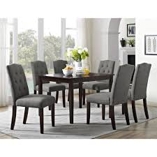 Black And Cherry Wood Dining Chairs Better Homes And Gardens Parsons Tufted Dining Chair Gray