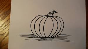 how to draw a halloween pumpkin youtube