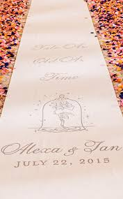 personalized aisle runner ceremony decor custom aisle runners disney weddings
