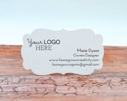 Recycle Paper Business Cards Mason Jar Modern Business Cards Die Cut Shape Customized