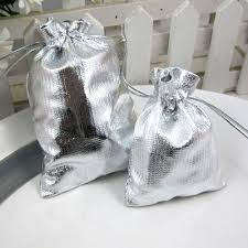 wedding favor bags handmade silver and gold yellow candy bags wedding favor bags