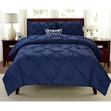 Blue Pintuck Comforter Premium Collection Pintuck 3 Piece Comforter Set Free Shipping