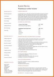 Warehouse Clerk Resume Sample 100 Warehouse Worker Resumes Warehouse Worker Resume 7 Free