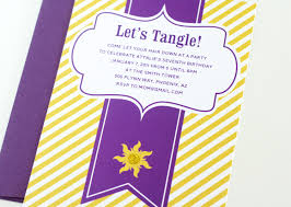 easy tangled party invites paging supermom