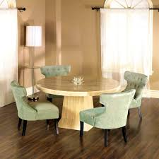 bedroom pretty brown round dining room table set circle chairs