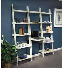 Leaning Ladder Bookcases by 25 Inch Leaning Ladder Desks Burr U0027s Unfinished Furniture
