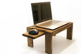 Laptop Desk Ideas Tantalizing Oak Wood Materials Bedstead Laptop Desk For Small