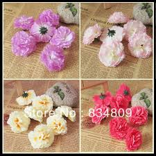 Fake Flowers For Home Decor Artificial Flowers Carnation Flowers Diy Fake Flower Head Brooch