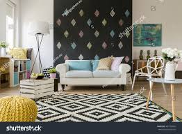 spacious living room shot spacious living room big sofa stock photo 481782856