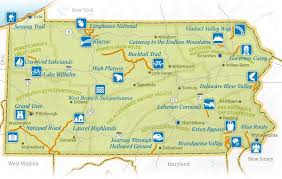 maryland byways map pa scenic byways map looking for a weekend drive reference