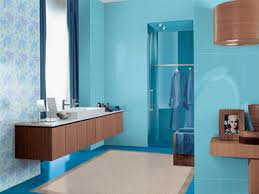 blue brown color scheme light blue bathroom paint color and