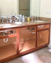 how to paint existing bathroom cabinets our painted bathroom vanity the before after and how