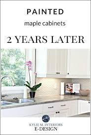 how to paint kitchen cabinets without streaks our painted maple cabinets 2 years later m interiors