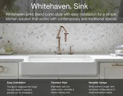 kohler cast iron farmhouse sink shop kohler whitehaven 21 5625 in x 32 6875 in white single basin