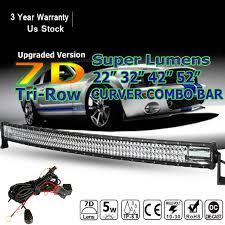 automotive led light bars autofeel auto led light bar curved 22 32 42 52 6000k 12v 24v car