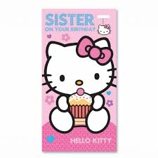 hello kitty birthday card sister with charm art 066 0110