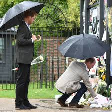 princes william and harry pay tribute to mother diana princess