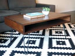 rectangular wood hairpin coffee table diy mid century modern coffee table midcenturymodern hairpinlegs