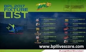 bpl 2017 schedule time table sixers match ticket schedule coach and points of bpl 2017