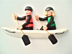personalized 2 person kayak ornament ornament helzer s creations