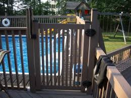 show me your ag pool deck railing please