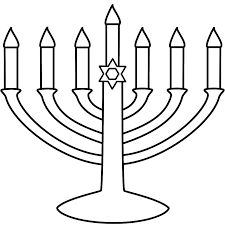 menorah coloring pages menorah with seven candles coloring page